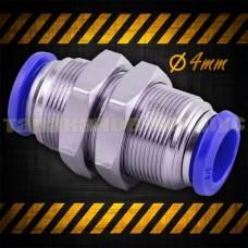 Фитинг для соединения трубки 4 мм, прямой, пневматический