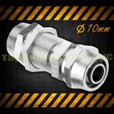 Фитинг для соединения трубки 10 мм, прямой, пневматический